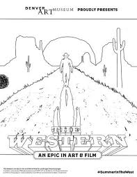 Coloring Page For The Western An Epic In Art And Film
