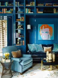 built in bookshelves or freestanding bookcases bossy color