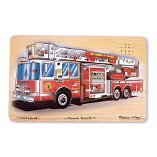 100 Melissa And Doug Fire Truck Puzzle Sound Wooden Peg With