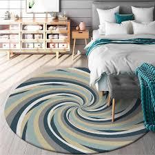 moderne einfache blau gelb grau runde teppich kreative muster 3d print teppiche für wohnzimmer schlafzimmer bereich teppich mode boden matte