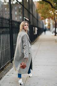Plaid Coat White Booties Street Style Ootd Fashion