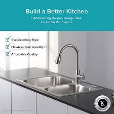 33x22 Stainless Steel Sink Drop In by Stainless Steel Kitchen Sinks Kraususa Com