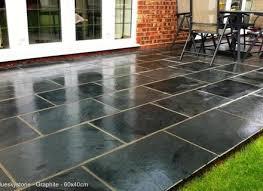 Black And Grey Slate Paving Patio Garden Tiles Not Slab