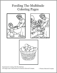 Full Image For Feeding The Multitude Coloring Pages Jesus Feeds 5000