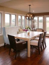 Bench Dining Room Table Wood Floor Pillows Chairs Flowers Windows Door Ceiling Light Chandelier Of Combinations In A Area
