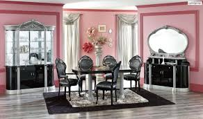 modern black and brown dining room table and chairs dining room