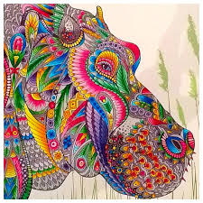 The Menagerie Colouring Book Is Filled With Beautiful Animal Heads To Colour And Complete Each Wonderfully Detailed Piece A Work Of Art By Illustrator C
