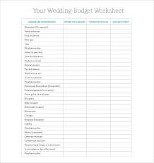 Wedding Budget Spreadsheet Easy To Print Worksheet For Download Excel Uk