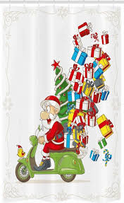 abakuhaus duschvorhang badezimmer deko set aus stoff mit haken breite 120 cm höhe 180 cm weihnachten sankt auf motorrad kaufen otto