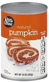 Solid Pack Pumpkin Nutrition by Shurfine Pumpkin Natural 15 0 Oz Nutrition Information Shopwell