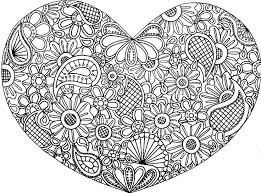 Abstract Coloring Pages For Teenagers Difficult As Color Of Hearts Heart