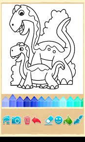 Dino Coloring Game Screenshot