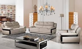 Living Room Set Top Grain Leather