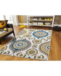Living Room Rugs On Clearance 8x10 Yellow Gray Blue Brown Contemporary For 8