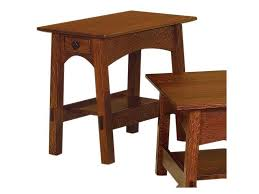 100 Dining Room Chairs With Oak Accents Crystal Valley Hardwoods McCoy End Table With Dovetail Drawer