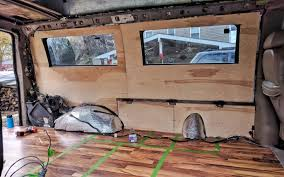 DIY Van Conversion Installing Plywood Walls