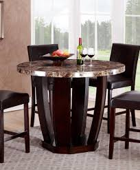 Marble Merlot Counter Height Table