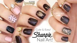 DIY Cute & Easy Nail Art For Beginners - Sharpie Nail Designs #40 ... Nail Art Ideas At Home Designs With Pic Of Minimalist Easy Simple Toenail To Do Yourself At Beautiful Cute Design For Best For Beginners Decorating Steps Cool Simple And Easy Nail Art Nails Cool Photo 1 Terrific Enchanting Top 30 Gel You Must Try Short Nails Youtube Can It Pictures Tumblr