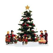 St Nicholas Square Village Collection Caroling Around The Tree Christmas Collections