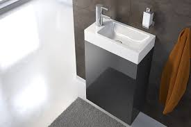 sam waschplatz 40 x 22 cm badezimmer schmaler waschtisch in schwarz hochglanz waschbecken aus kunststoff