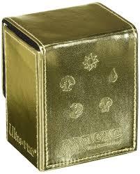 Mtg Sliver Deck Box by Amazon Com Ultra Pro All Mana For Magic Flip Box Gold Toys U0026 Games