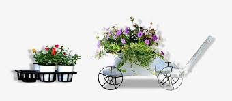 Flower And Floats Vintage Float Potted Balcony Wildflowers PNG PSD