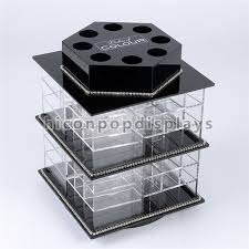 China Counter Top Beauty Salon Shop Fixture Lipstick Acrylic Display Stands Rotating Supplier