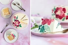 aquarell torte zitronentorte mit lemon curd swiss meringue buttercreme