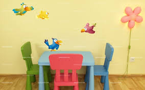 stickers jungle chambre bébé stickers quatre perroquets stickers décoratifs enfants idzif