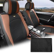 100 Truck Dash Covers FH Group Brown Black PU Leather Front Bucket Seat Cushion For