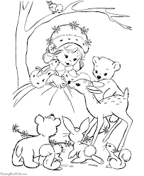 Christmas Coloring Pages Of Animals