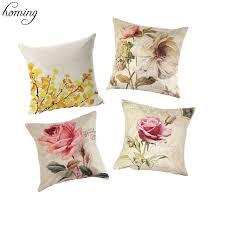 coussin pour canapé housse de coussin en fleur décoratif housses de coussin pour
