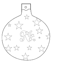 Pin Drawn Christmas Ornaments Color Cut Out 12