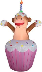 Walmart Canada Halloween Inflatables by Party Time Airblown Inflatable Cupcake With Monkey Yard Decor