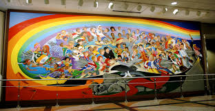 denver international airport murals pictures the children of the world of peace mural locator