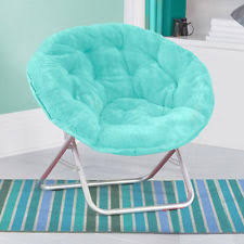 Microsuede Folding Saucer Chair by Folding Chairs Ebay