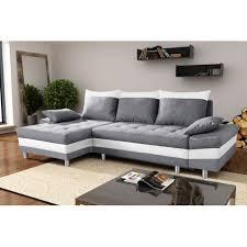 canapé gris et blanc pas cher canapé bacau gris blanc angle gauche pas cher achat vente