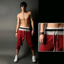 men sports pants training dance harem baggy jogger casual trousers