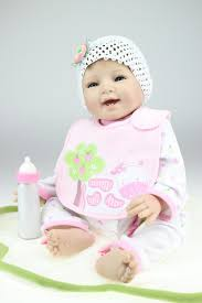 22 reborn lovable baby doll in pink clothes soft body play doll