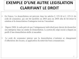 attestation domiciliation si e social la domiciliation projet de loi n complétant la loi n 15 95 formant