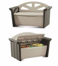 Rubbermaid Patio Storage Bench by Rubbermaid Patio U0026 Garden Furniture Ebay
