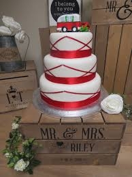 Personalised Rustic Wooden Apple Crate Cake Stand Wedding