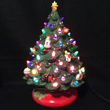 Spiral Lighted Christmas Tree by Christopher Radko Lighted Ceramic Christmas Tree Traditions