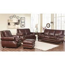Sams Club Leather Sofa And Loveseat by Palisades Top Grain Semi Aniline Leather 4 Piece Set Sam U0027s Club