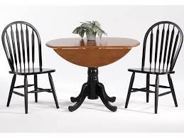 Amesbury Chair Farmhouse And Traditional Windsor Drop Leaf Table W 2 Arrow Back Side Chairs