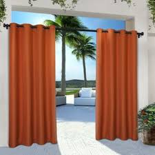 Eclipse Thermalayer Curtains Grommet by Orange Curtains U0026 Drapes You U0027ll Love Wayfair