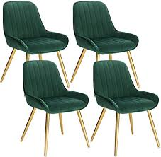 lestarain 4 stücke esszimmerstuhl retro küchenstuhl wohnzimmerstuhl sitzfläche aus samt retrostuhl mit metallbeine besucherstuhl stuhl für esszimmer