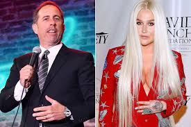 Big Ang Mural Unveiling by Jerry Seinfeld Awkwardly Denies Kesha A Hug Page Six