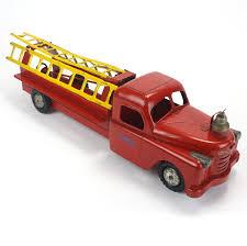 100 Structo Toy Truck Pressed Steel Ladder Fire Vintage Findz