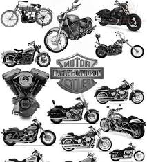 Grey Ink Harley Bikes Tattoo Designs
